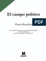 Bourdieu Pierre_El Campo Politico_La Representacion Politica