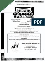 25th Annual Putnam County Spelling Bee Libretto