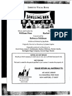 25th Annual Putnam County Spelling Bee Libretto