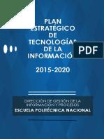 Plan Estratefico Tecnologias de La Informacion DGIP
