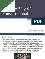 Artículo 5° y 6° constitucional