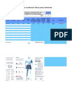 Gráfico de Progreso de Condición Física Para Hombres
