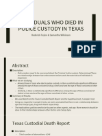 individuals who died in police custody in texas