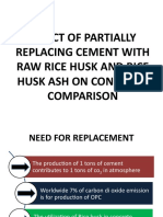 Effect of Partially Replacing Cement With Raw Rice (1)