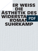 Peter Weiss Die Asthetik Des Widerstands