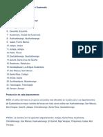 Departamentos y Cabeceras de Guatemala