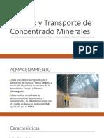 Manejo y Transporte de Concentrado Minerales