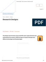 Research Designs - How to Construct an Experiment or Study