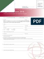 Ico App Form Adv Exam 2016