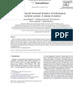 Bergek Et Al (2008) Functions -RP