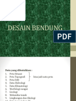 DESAIN BENDUNG