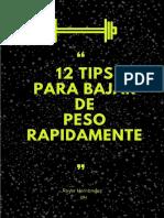 12 Tips Para Bajar de Peso Rapidamente