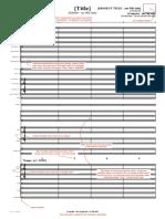 Score Template Orchestra
