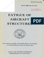 Fatigue of Aircraft Structures