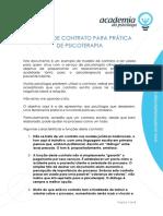 Modelo de Contrato Para Prática de Psicoterapia