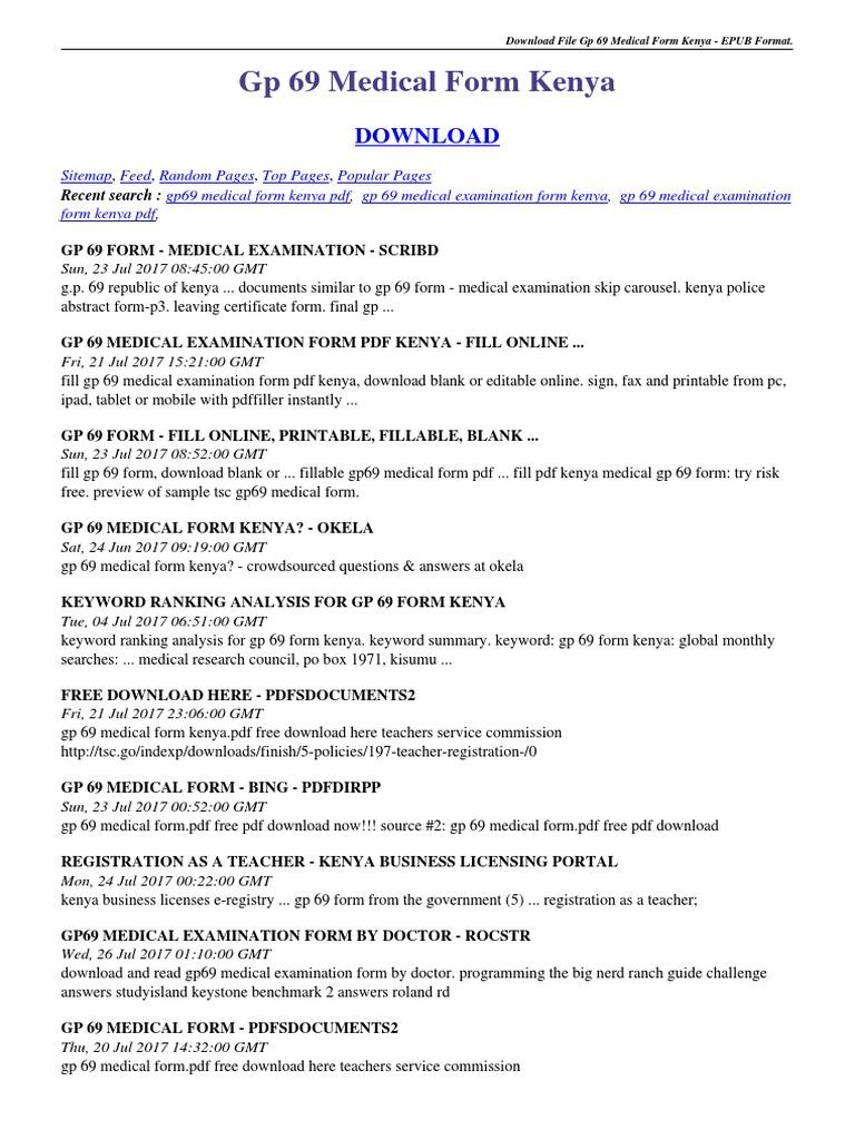 gp-69-medical-form-kenya pdf | Portable Document Format