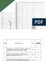 Relacion de Obras Para Sistema Infobras