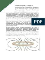 Campos Magneticos y Fuerza Electricas