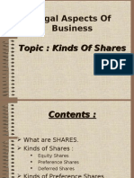 Kinds of Shares Legal Aspects