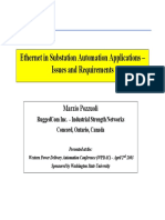 Ethernet in Substation Automation Applications - Issues and Requirements