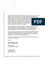 St. Matthew School Auction Donation Letter