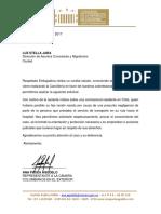 Oficio dirigido a Cancillería por caso de colombiana en Chile