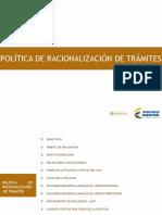 Politica Racionalizacion de Trámites.