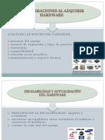 Consideraciones de Almacenamiento de Datos Hardware