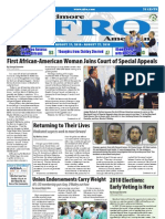 Baltimore Afro-American Newspaper, August 21, 2010