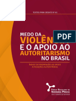 FBSP Indice Propensao Apoio Posicoes Autoritarios 2017 Relatorio