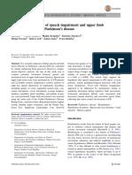 e Analysis of Speech Impairment and Upper Limb