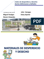 Materiales de Desperdicio y Desecho