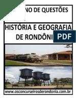 Caderno de Questões de História e Geografia de Rondônia