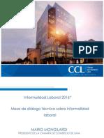 Informalidad Laboral 2016