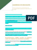 El Modelo Ecosistémico de Intervención Familiar