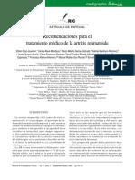 Recomendaciones para el tratamiento medico de la artritis reumatoide.pdf