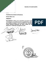 Proyecto de Ley (Que Modif Art 4 Ley Nro 5392-15)