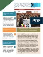 Newsletter 4 - Centro de Estudios Hemisféricos y Polares, Setiembre 2017