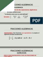 Diapositivas. Fracciones Algebraicas Matemática Aplicada