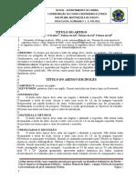 Modelo de Artigo e Trabalho Escrito - 2017.1