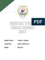 Senarai Tugas Kerja Harian Tlx 2016