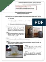 Extraccion de Aceites Esenciales