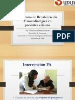 Programa de Rehabilitaci n Fonoaudiol Gica en Pacientes Af Sicos