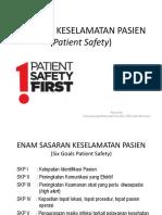 Sasaran Keselamatan Pasien (Patient Safety)