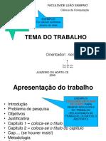 Modelo Apresentação TCC SER