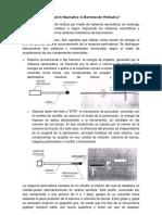 Barrenación hidráulica vs neumática