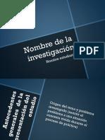 PPT de La Investigación
