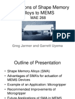 Applications of Shape Memory Alloys to MEMS
