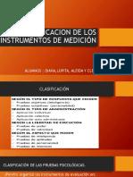 Clasificacion de Los Instrumentos de Medición Psicologicos