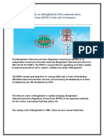 Assignment on BTRC(Bangladesh Telecommunication Regulatory Commission) tools and techniques.